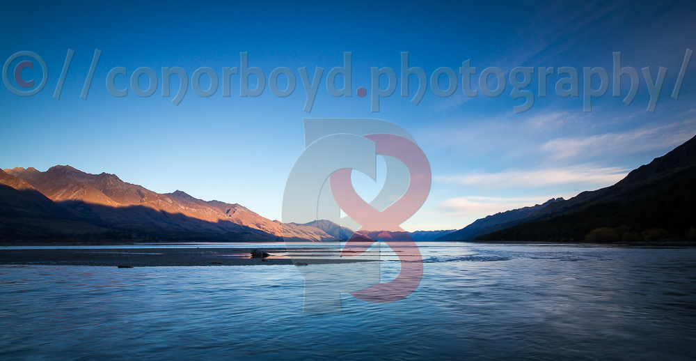 Sunset over Lake Wakatipu from Kinloch