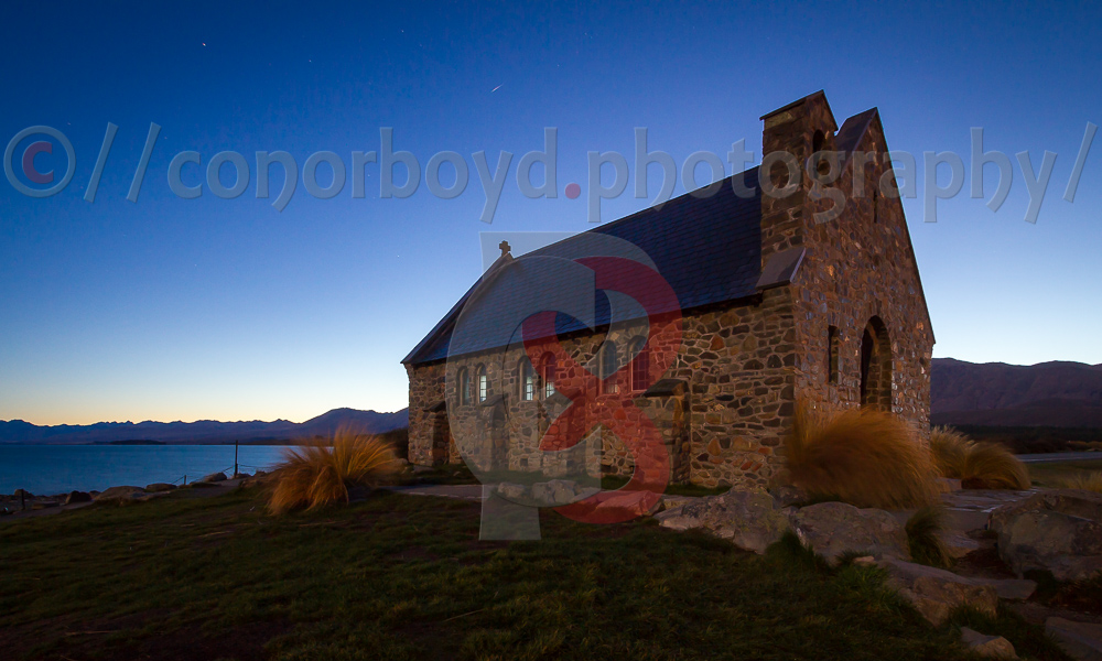 Church of the Good Shepherd, Tekapo at sunrise